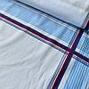 Ситец платочный для мужских носовых платков с синими и голубыми полосками, ш. 1м