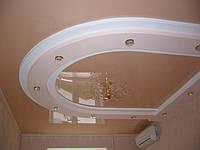 Натяжной потолок с криволинейным коробом