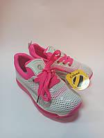 Дитячі кросівки сіточка Clibee 31-36 білі, фото 1