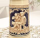Немецкая пивная кружка, керамический бокал для пива с оловянной крышкой, Германия, 350 мл, фото 2