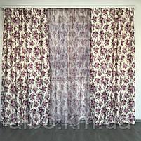 Шторы из атласа для зала кухни комнаты, шторы тюль в гостинную спальню кабинет, шторы комбинированые с тюлем, фото 4