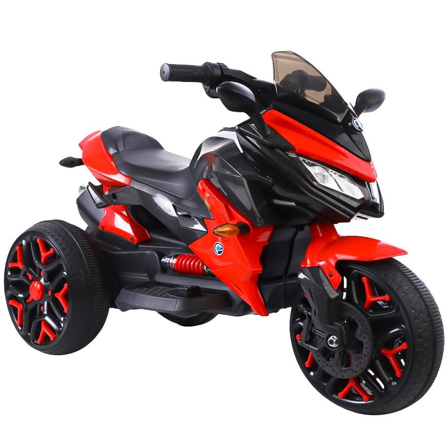 Детский электромобиль Tilly T-7231 EVA RED мотоцикл 12V4.5AH мотор 2*18W с MP3 115*59*73 /1/