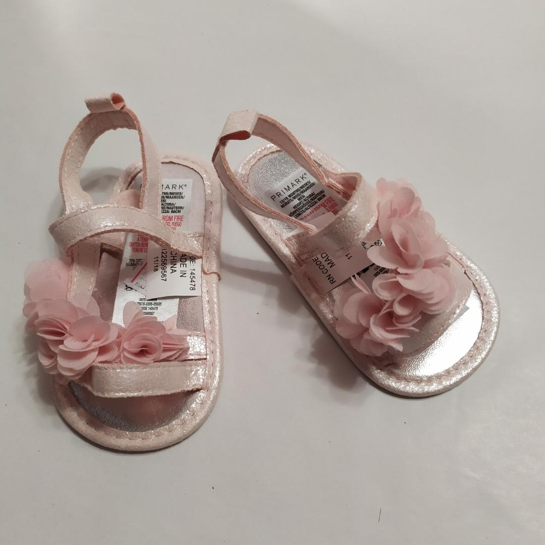 Пинетки-босоножки для девочки розовые  Primark 12/18см