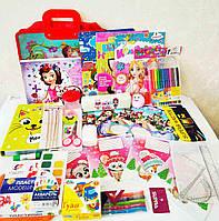 Школьный набор канцтоваров для девочки, 28 предметов