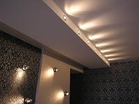 Матовый потолок с боковой подсветкой