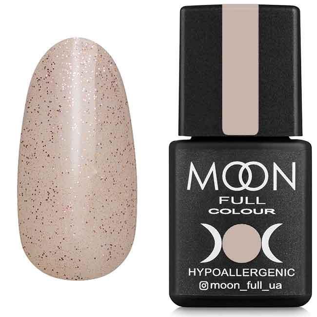 Гель-лак MOON FULL Opal №503 бежевый полупрозрачный с мелким розовым шиммером