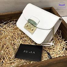 Клатч люкс реплика Фурла Метрополис | сумка Furla Metropolis натуральная кожа (0159) Белый