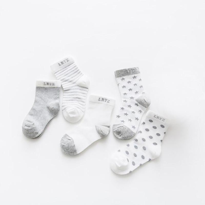 Детский набор носочков RМ-0022 Серый 5 пар