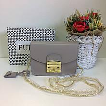 Клатч люкс реплика Фурла Метрополис | сумка Furla Metropolis натуральная кожа (0159) Серый