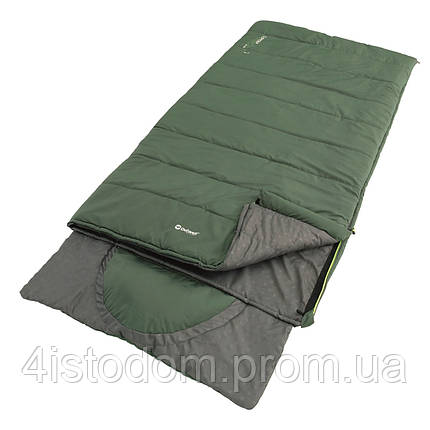 Спальный мешок Outwell Contour Lux XL Reversible/-1°C Green (Left), фото 2