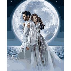 Под лунным сиянием - Картины по номерам | Идейка 40х50 см. | КН4552