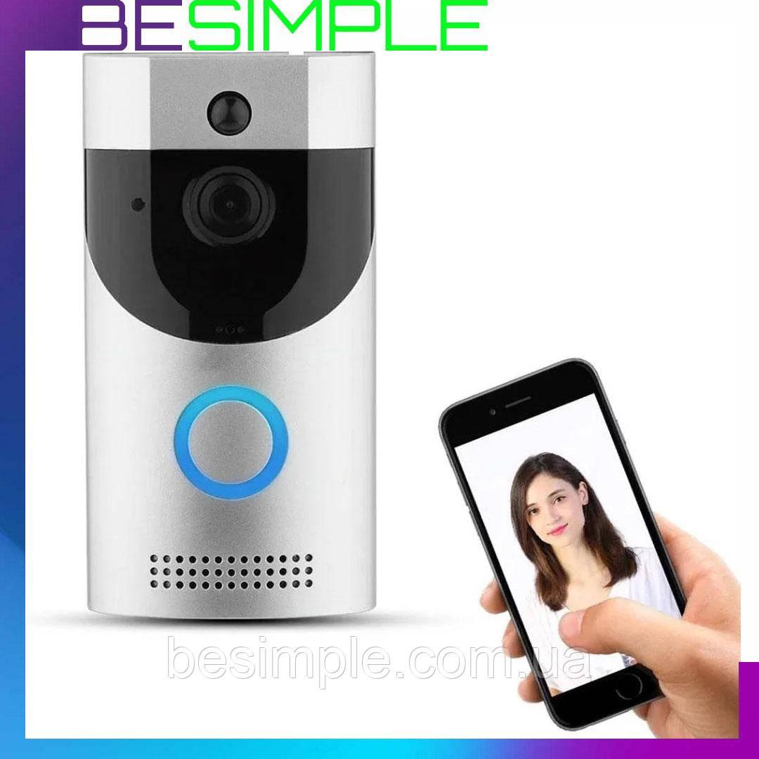 Домофон SMART DOORBELL wifi B30 1080p / Беспроводной дверной домофон