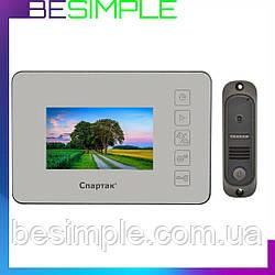 """Домофон дзеркальний 4"""" JS 438 сенсорний LCD монітор"""