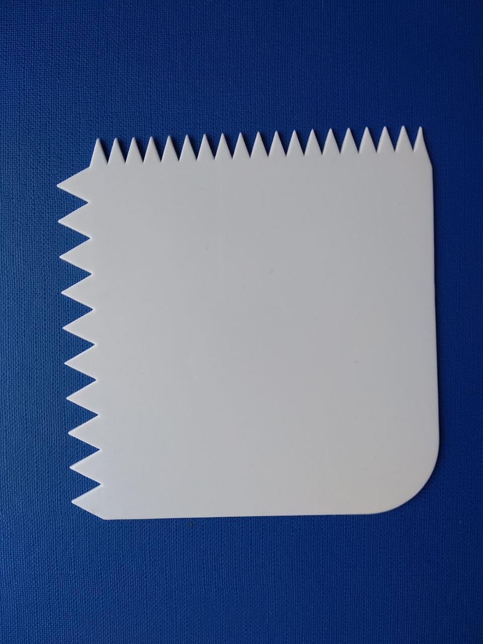 Скребок кондитерський для крему прямокутний 10,5*10 см