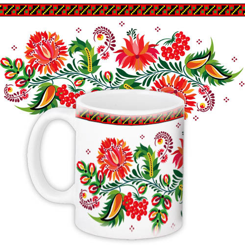 Чашка Цветочная фантазия