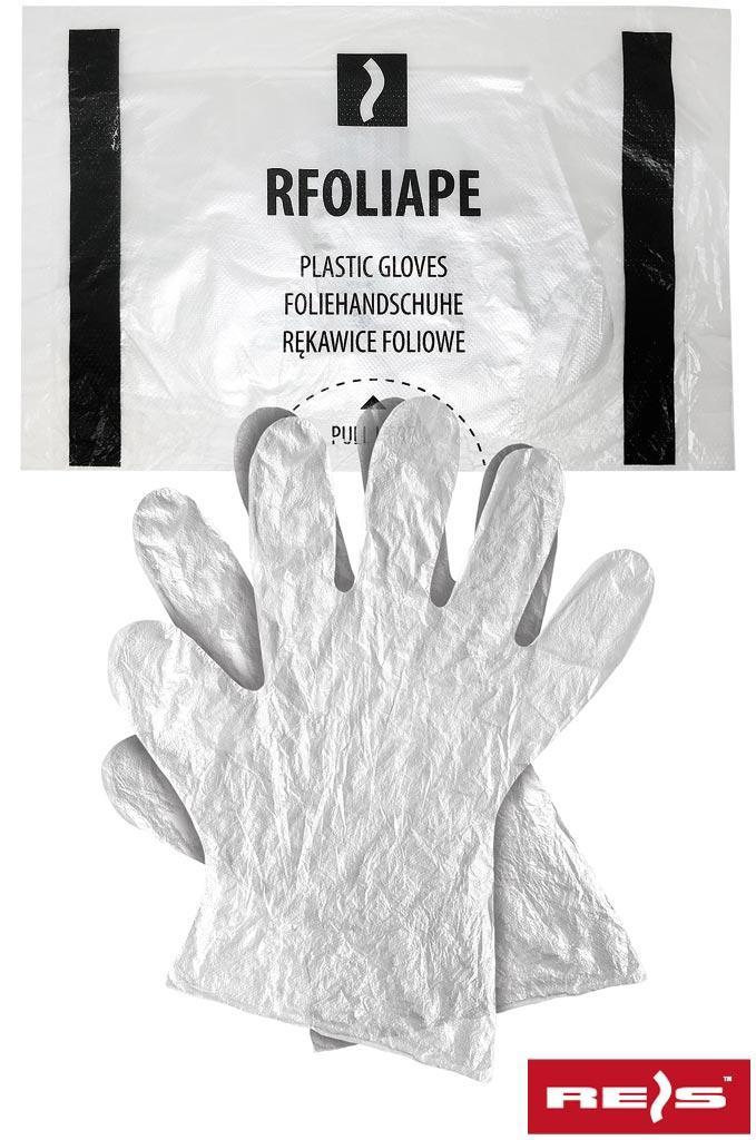 Перчатки рабочие полиетиленовые REIS Польша RFOLIAPE T