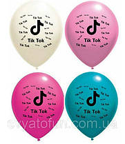 """Латексные воздушные шарики TikTok 12"""" 4 цвета 10шт/уп Belbal"""