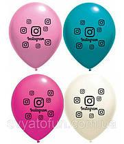 """Латексные воздушные шарики Instagram 12"""" 4 цвета 10шт/уп Belbal"""