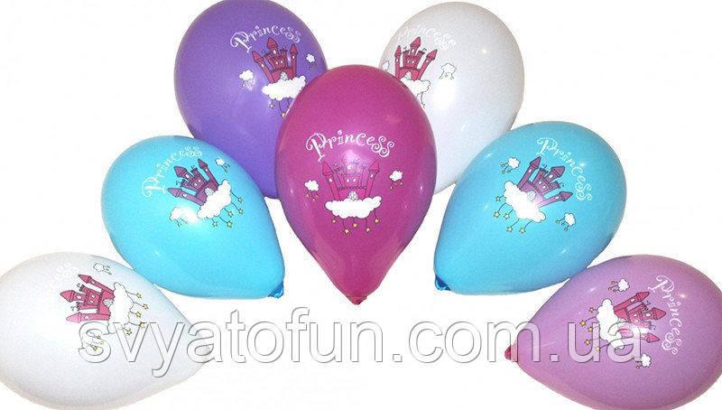 """Латексные воздушные шарики Замок Принцессы 12""""(30см) 100шт/уп Gemar"""