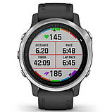 Спортивные часы Garmin Fenix 6S Silver with Black Band, фото 2