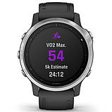 Спортивные часы Garmin Fenix 6S Silver with Black Band, фото 4