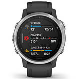 Спортивные часы Garmin Fenix 6S Silver with Black Band, фото 5