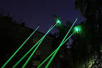 Зеленая лазерная указка, лазер Laser Green Pointer (5 насадок)