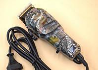 Профессиональная машинка для стрижки волос Gemei GM - 1018 с 4 насадками декорированная