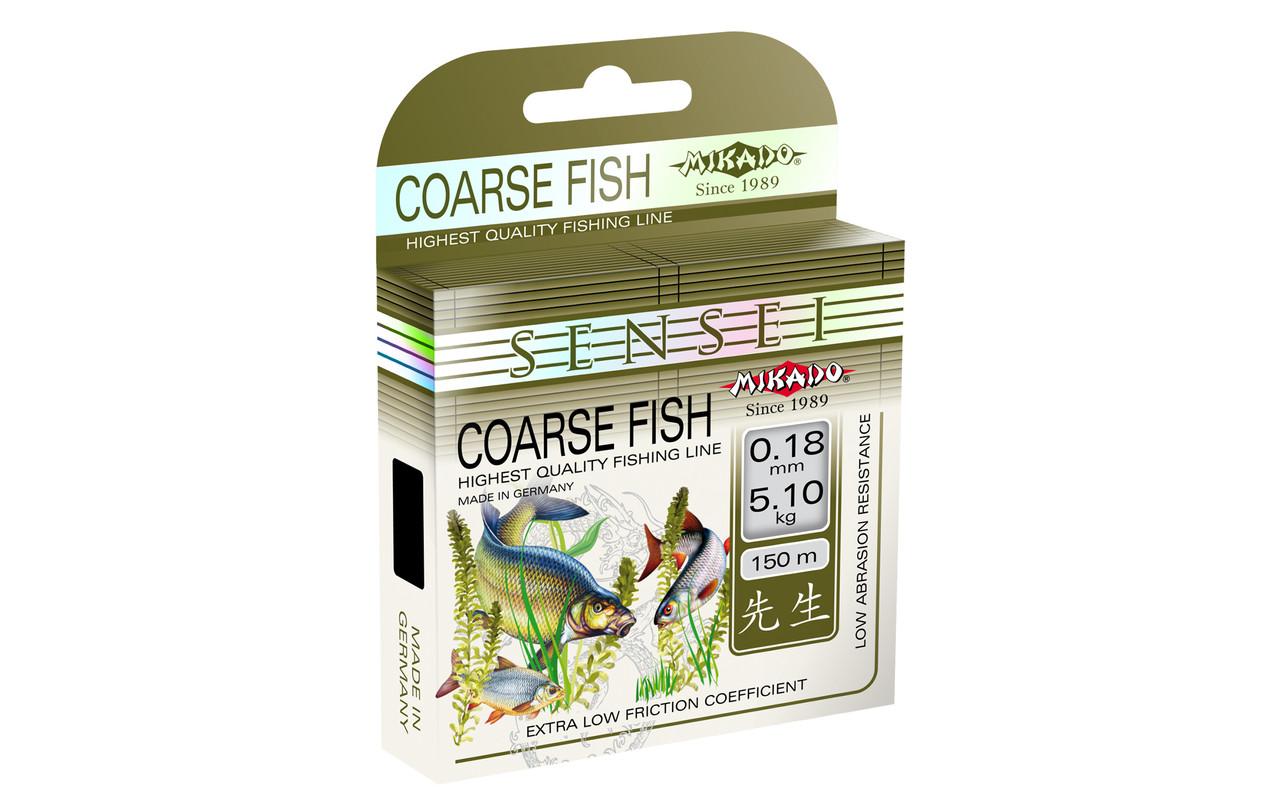 Леска Mikado Sensei Coarse Fish 150м 0,16мм 4,15кг (прозрачный)