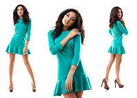 Платье с рюшей 5 цветов