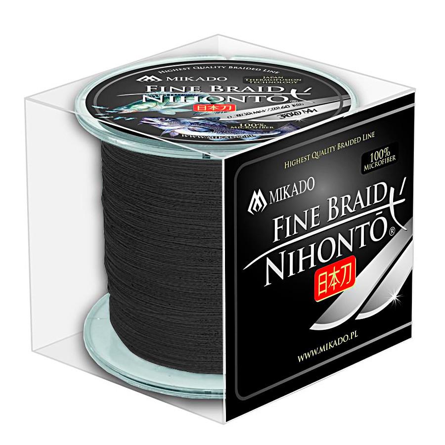 Шнур Mikado Nihonto Fine Braid 300м 0,14мм 9,70кг black