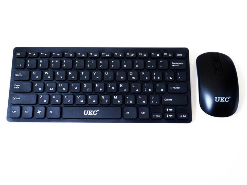 Комплект радио клавиатура и мышь в стиле Apple 901 Черный