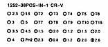 Профессиональный набор инструментов K-TOOLS 1252 -38PCS CR-V, фото 7