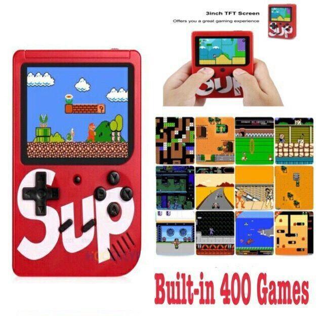 """Портативная консоль, игровая приставка """"Retro FC SUP Game Box"""" 400 в 1 Красный"""
