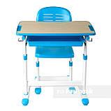 Детская парта со стульчиком FunDesk Piccolino Blue, фото 7