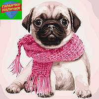 Картина по номерам Розовое настроение Рожевий настрій 40*40см KHO4107 Идейка Розпис по номерах
