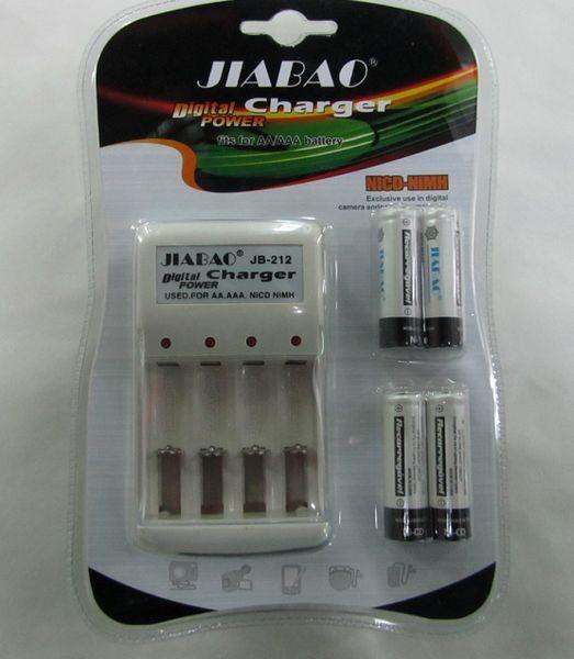 Зарядний Пристрій JB-Jiabao 212 + Акумулятори ААА (4 штуки мізинчикові)