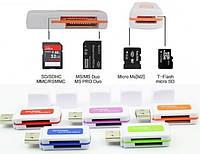 Универсальный Картридер 4в1 USB 2.0 для Планшета Ноутбука ПК Кард Ридер