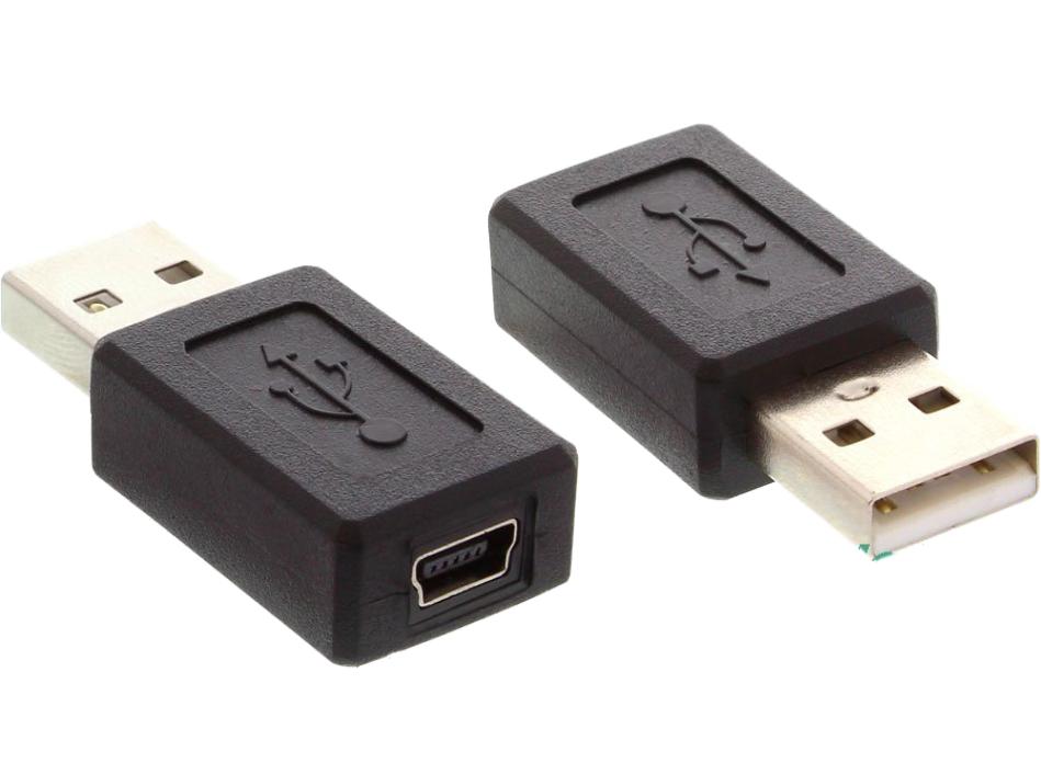 Адаптер Переходник USB2.0 (папа) на Mini USB (мама)