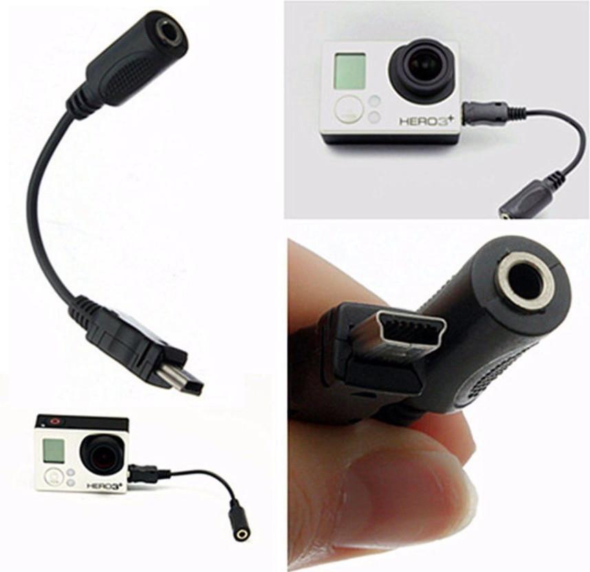 Перехідник для Мікрофона Mini-USB 3.5 mm для GoPro