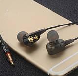 Двухдрайверные Навушники Hi-Fi SUPER BASS Гарнітура 4 Динаміка Подвійний Драйвер, фото 2