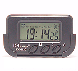 Часы KK-613D Будильник + Секундомер + Календарь + Держатель, фото 3