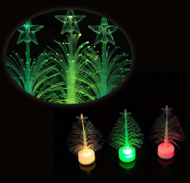 Волоконно-Оптична Новорічна Ялинка Mini LED Різдвяна Різнокольорова