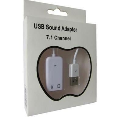 Внешняя Звуковая Карта USB с Шнуром 7.1 Audio 3D Sound Card