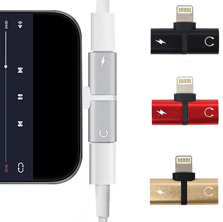 Splitter Double Lightning 2 в 1 Наушники и Зарядка iPhone 7 8 Plus Адаптер Сплиттер Переходник Разветвитель