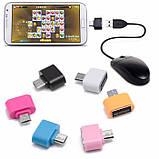 Переходник OTG MicroUSB USB Адаптер ОТГ Подключения Флешки Мышки, фото 2