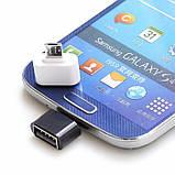 Переходник OTG MicroUSB USB Адаптер ОТГ Подключения Флешки Мышки, фото 7