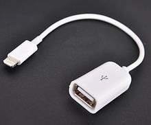 Адаптер OTG USB Apple iPhone 5 6 7 iPad Переходник Lightning