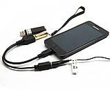 Кабель Power MicroUSB USB Host OTG Перехідник Splitter, фото 3