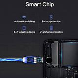 Магнитный светящийся кабель iPhone 2A шнур с подсветкой, фото 5